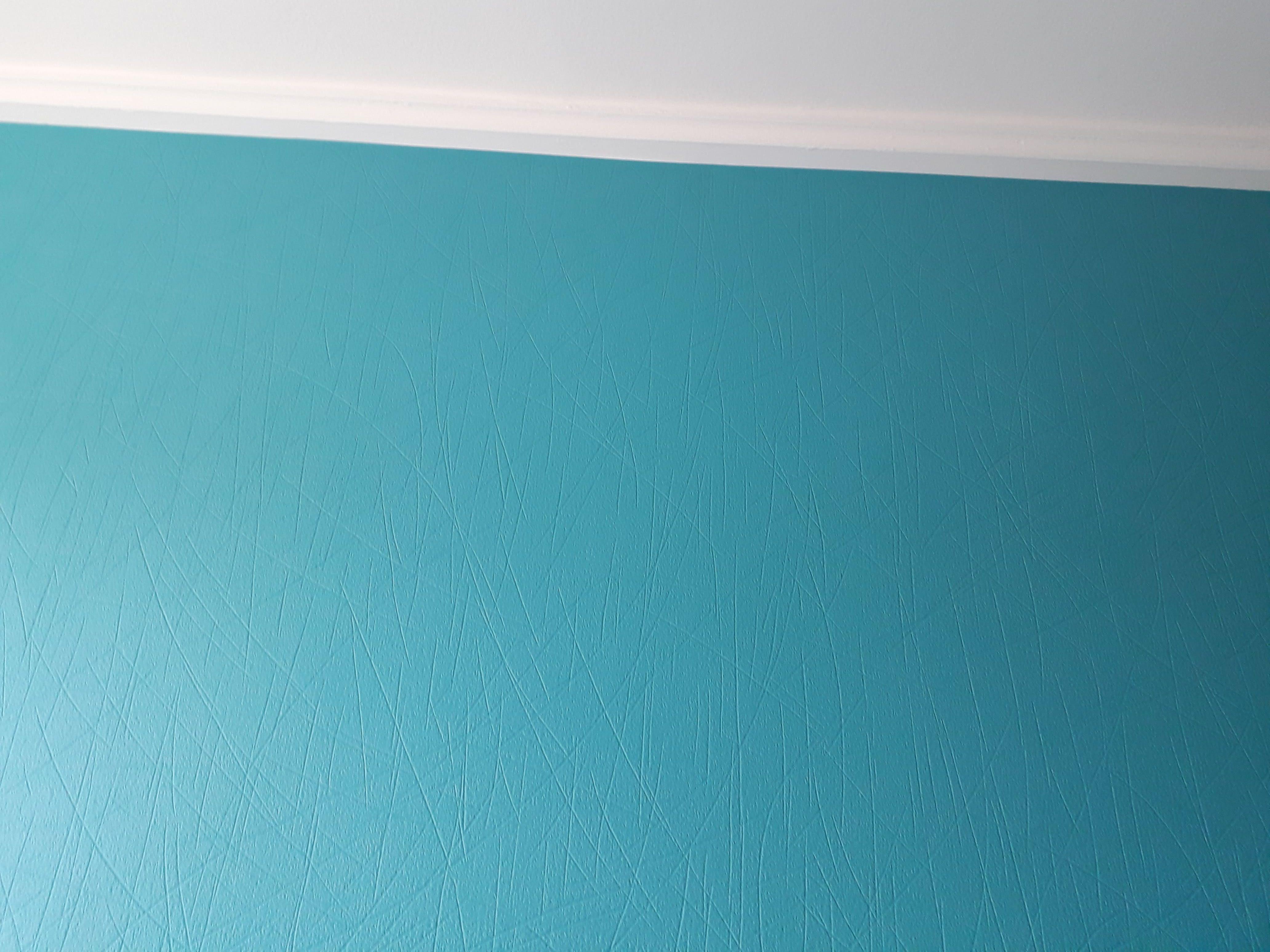 revetement à peindre bleu canard chambre deco peinture quintin