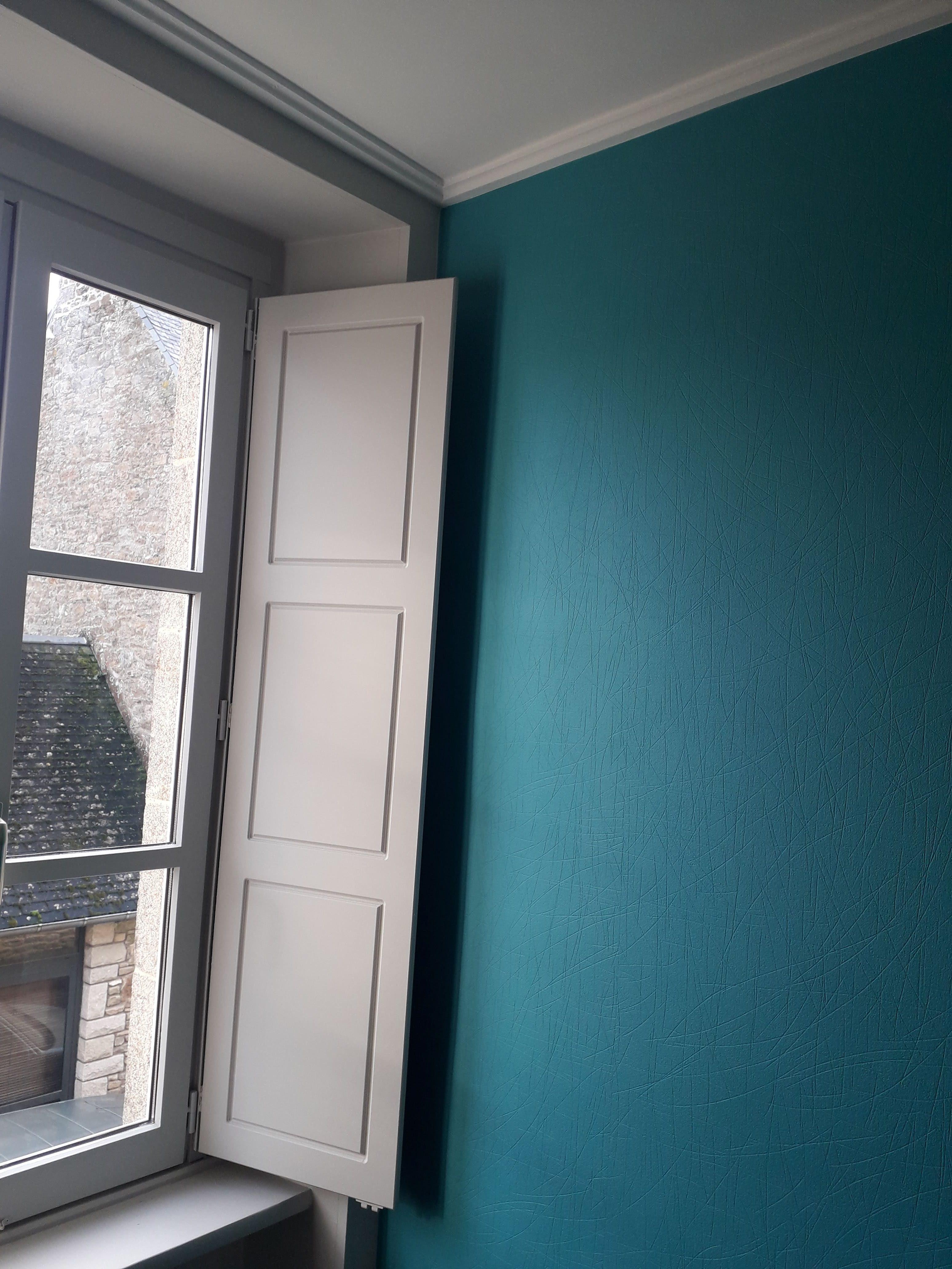 mur chambre bleu canard deco peinture quintin 22